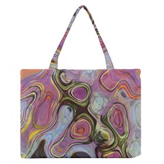 Retro Background Colorful Hippie Zipper Medium Tote Bag by Sapixe