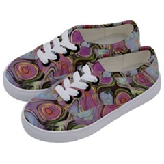 Retro Background Colorful Hippie Kids  Classic Low Top Sneakers by Sapixe