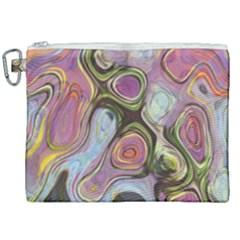 Retro Background Colorful Hippie Canvas Cosmetic Bag (xxl) by Sapixe