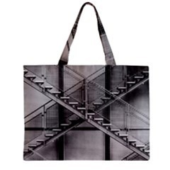 Architecture Stairs Steel Abstract Zipper Mini Tote Bag