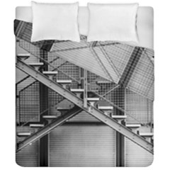 Architecture Stairs Steel Abstract Duvet Cover Double Side (california King Size)