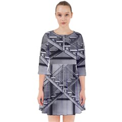 Architecture Stairs Steel Abstract Smock Dress