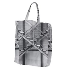 Architecture Stairs Steel Abstract Giant Grocery Zipper Tote