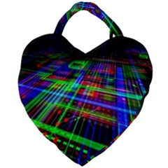 Electronics Board Computer Trace Giant Heart Shaped Tote by Sapixe