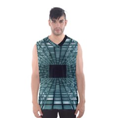 Abstract Perspective Background Men s Basketball Tank Top by Sapixe