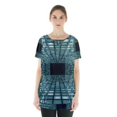 Abstract Perspective Background Skirt Hem Sports Top