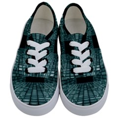 Abstract Perspective Background Kids  Classic Low Top Sneakers