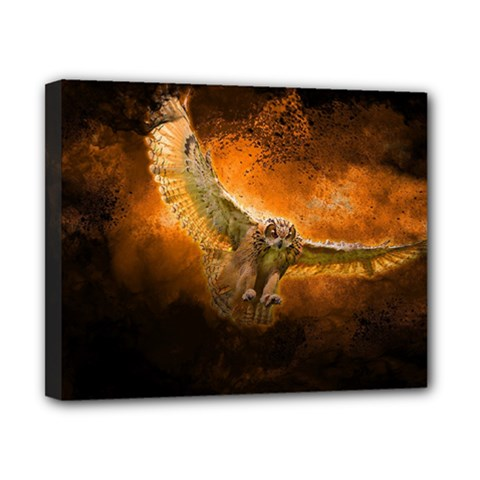 Art Creative Graphic Arts Owl Canvas 10  X 8  by Sapixe