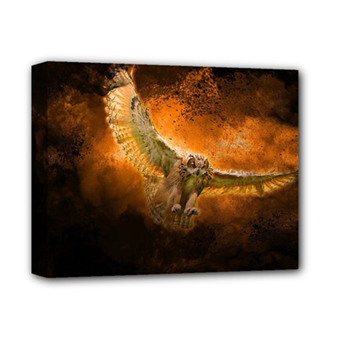 Art Creative Graphic Arts Owl Deluxe Canvas 14  X 11  by Sapixe