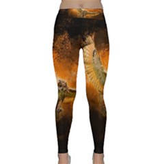 Art Creative Graphic Arts Owl Classic Yoga Leggings by Sapixe