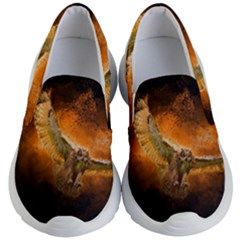 Art Creative Graphic Arts Owl Kid s Lightweight Slip Ons by Sapixe