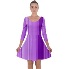 Background Texture Pattern Purple Quarter Sleeve Skater Dress