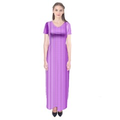 Background Texture Pattern Purple Short Sleeve Maxi Dress