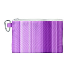 Background Texture Pattern Purple Canvas Cosmetic Bag (medium)
