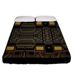 Board Digitization Circuits Fitted Sheet (queen Size)