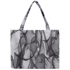 Abstract Black And White Background Mini Tote Bag by Sapixe