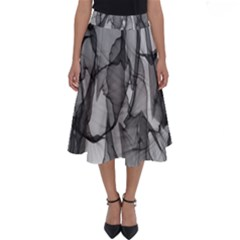Abstract Black And White Background Perfect Length Midi Skirt