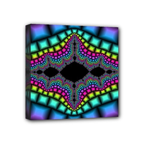 Fractal Art Artwork Digital Art Mini Canvas 4  X 4  by Sapixe