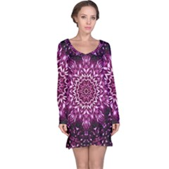 Background Abstract Texture Pattern Long Sleeve Nightdress