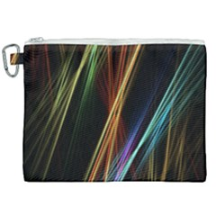 Lines Rays Background Light Canvas Cosmetic Bag (xxl)