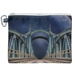Bridge Mars Space Planet Canvas Cosmetic Bag (xxl) by Sapixe
