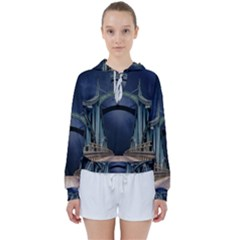 Bridge Mars Space Planet Women s Tie Up Sweat