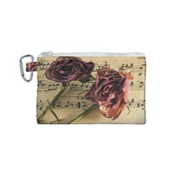 Sheet Music Manuscript Old Time Canvas Cosmetic Bag (small)