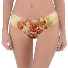 Vintage Digital Graphics Flower Reversible Classic Bikini Bottoms by Sapixe