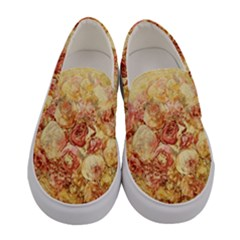 Vintage Digital Graphics Flower Women s Canvas Slip Ons