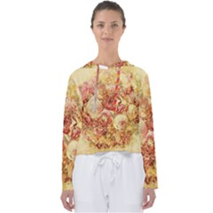 Vintage Digital Graphics Flower Women s Slouchy Sweat by Sapixe
