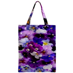Graphic Background Pansy Easter Zipper Classic Tote Bag by Sapixe