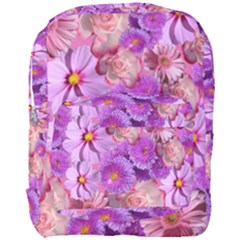 Flowers Blossom Bloom Nature Color Full Print Backpack by Sapixe