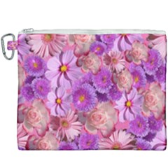 Flowers Blossom Bloom Nature Color Canvas Cosmetic Bag (xxxl) by Sapixe