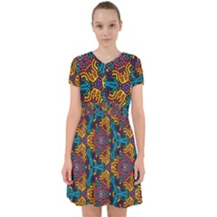 Grubby Colors Kaleidoscope Pattern Adorable In Chiffon Dress by Sapixe