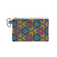 Grubby Colors Kaleidoscope Pattern Canvas Cosmetic Bag (small) by Sapixe