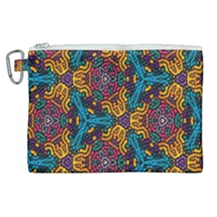 Grubby Colors Kaleidoscope Pattern Canvas Cosmetic Bag (xl)