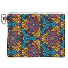 Grubby Colors Kaleidoscope Pattern Canvas Cosmetic Bag (xxl) by Sapixe