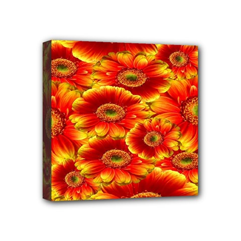 Gerbera Flowers Nature Plant Mini Canvas 4  X 4  by Sapixe