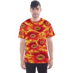 Gerbera Flowers Nature Plant Men s Sports Mesh Tee by Sapixe