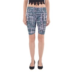 Board Circuit Control Center Yoga Cropped Leggings by Sapixe