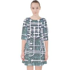 Board Circuit Control Center Pocket Dress