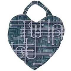 Board Circuit Control Center Giant Heart Shaped Tote by Sapixe