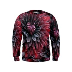 Flower Fractals Pattern Design Creative Kids  Sweatshirt by Sapixe