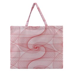 Red Pattern Abstract Background Zipper Large Tote Bag