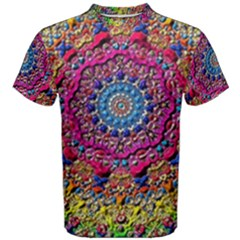 Background Fractals Surreal Design Men s Cotton Tee