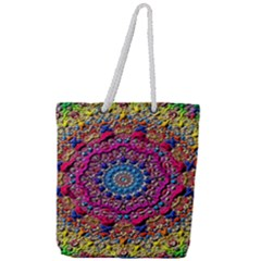 Background Fractals Surreal Design Full Print Rope Handle Tote (large)