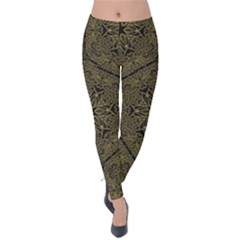 Texture Background Mandala Velvet Leggings