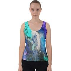 Blue Sensations Velvet Tank Top