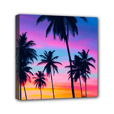Sunset Palms Canvas Travel Bag by goljakoff