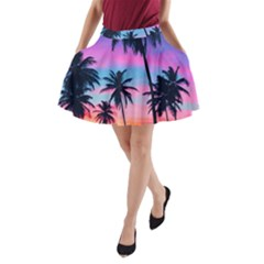 Sunset Palms A Line Pocket Skirt by goljakoff